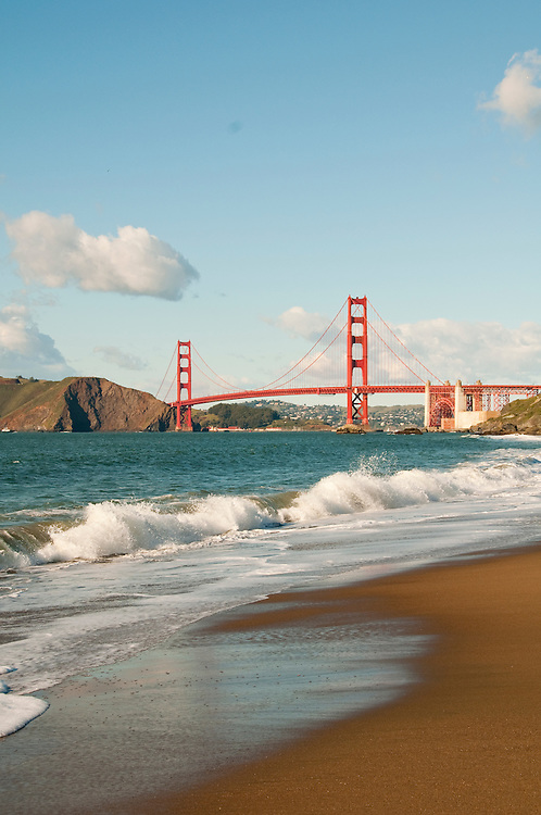 Baker Beach, Golden Gate Bridge, San Francisco, California, USA.  Photo copyright Lee Foster.  Photo # california108825
