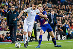 Lorenzo Pellegrini of AS Roma (L) fights for the ball with Ivan Rakitic of FC Barcelona (R) during the UEFA Champions League 2017-18 quarter-finals (1st leg) match between FC Barcelona and AS Roma at Camp Nou on 05 April 2018 in Barcelona, Spain. Photo by Vicens Gimenez / Power Sport Images
