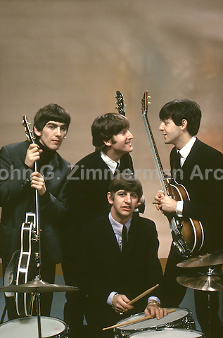 Beatles portrait, February 1964, Plaza Hotel, New York. Taken while Beatles were in NYC for first apprearance on Ed Sullivan Show. Photo by John G. Zimmerman.