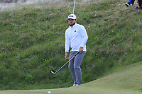 Tyrrell Hatton (ENG) on the 2nd green during Round 3 of the Betfred British Masters 2019 at Hillside Golf Club, Southport, Lancashire, England. 11/05/19<br /> <br /> Picture: Thos Caffrey / Golffile<br /> <br /> All photos usage must carry mandatory copyright credit (&copy; Golffile | Thos Caffrey
