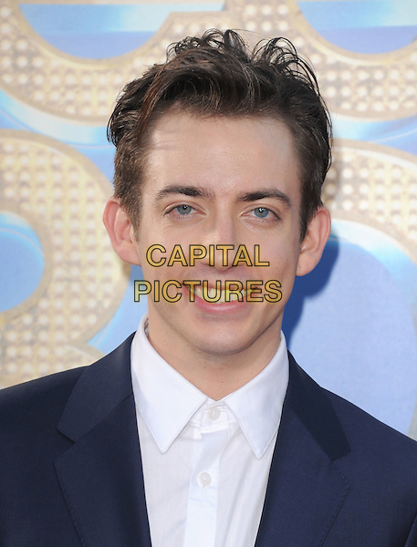 Kevin McHale.attends The 20th Century Fox 'Glee 3D' Concert World Movie Premiere held at The Regency Village theatre in Westwood, California, USA, .August 6th 2011..portrait headshot smiling blue navy white shirt .CAP/RKE/DVS.©DVS/RockinExposures/Capital Pictures.