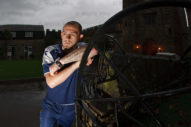 Steven Fletcher at the team hotel in Chepstow, Wales