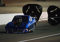 Oct. 27, 2012; Las Vegas, NV, USA: NHRA pro mod driver Peter Farber during qualifying for the Big O Tires Nationals at The Strip in Las Vegas. Mandatory Credit: Mark J. Rebilas-