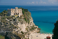 Tropea, Calabria, Italy, May 2007. The historical town of Tropea contrasts against the turquoise water of the sea. Many picturesque towns line the mountainous coastline of Calabria. Photo by Frits Meyst/Adventure4ever.com