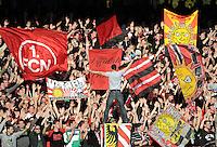 FUSSBALL   1. BUNDESLIGA  SAISON 2011/2012   10. Spieltag 1 FC Nuernberg - VfB Stuttgart         22.10.2011 Nuernberg  Fankurve mit Fahnen DIE LIEBE HOERET NIMMER AUF