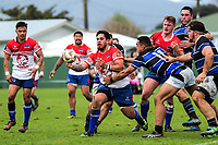 Action from the Mitre 10 Heartland Cup rugby union preseason match between Horowhenua Kapiti and Wanganui at Playford Park in Levin, New Zealand on Saturday, 19 August 2017. Photo: Dave Lintott / lintottphoto.co.nz