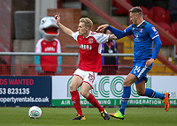Fleetwood Town's Harvey Rodgers competing with Carlisle United's Richard Bennett  <br /> <br /> Photographer Andrew Kearns/CameraSport<br /> <br /> The Carabao Cup First Round - Fleetwood Town v Carlisle United Kingdom - Tuesday 8th August 2017 - Highbury Stadium - Fleetwood<br />  <br /> World Copyright &copy; 2017 CameraSport. All rights reserved. 43 Linden Ave. Countesthorpe. Leicester. England. LE8 5PG - Tel: +44 (0) 116 277 4147 - admin@camerasport.com - www.camerasport.com