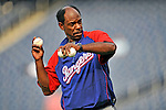 21 June 2008: Texas Rangers' Manager Ron Washington throws batting practice to his team prior to facing the Washington Nationals at Nationals Park in Washington, DC. The Rangers defeated the Nationals 13-3 in the second game of their 3-game inter-league series...Mandatory Photo Credit: Ed Wolfstein Photo