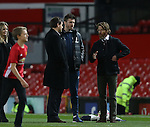 Daniel Moder speaks to Michael Carrick of Manchester United during the Premier League match at the Old Trafford Stadium, Manchester. Picture date: November 27th, 2016. Pic Simon Bellis/Sportimage