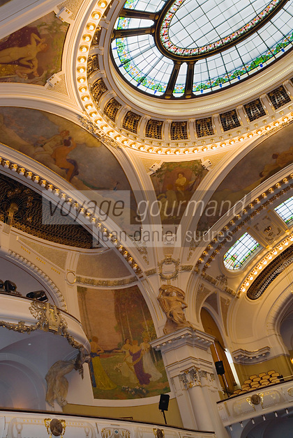 Europe/République Tchèque/Prague: La Maison Municipale-Edifice Art Nouveau qui se dresse  à l'emplacement de l'ancien Palais Royal - La Salle Smatana