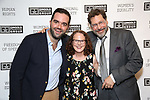 "Stephen Brown-Fried – Associate Director, Alyce Stark (General Manager) and David Staller (Founding Artistic Director - GINGOLD THEATRICAL GROUP) attends the Opening Night of The Gingold Theatrical Group production of Bernard Shaw's ""Caesar & Cleopatra"" at Theatre Row Theatre on September 24, 2019 in New York City."