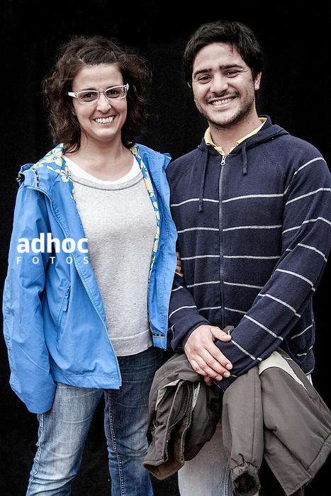 JAVIER CALVELO/  MONTEVIDEO/  ESTADIO CENTENARIO/ CLASIFICATORIAS SUDAMERICANAS MUNDIAL BRASIL 2014 / REPECHAJE MUNDIAL BRASIL 2014 - SERIE SUDAMERICA-ASIA/  PARTIDO DE VUELTA/ URUGUAY-JORDANIA<br /> Proyecto documental sobre la identidad, lo nacional, lo Uruguayo y el consumo. Se trata de retratos simples mirando a camara y con un fondo neutro. Les pregunto a los fotografiados como quieren ser recordados en el futuro y de que localidad son.<br /> El trabajo esta influenciado por la obra de August Sander pero tambien por Richard Avedon y Manuel Alvarez Bravo. <br /> El titulo esta basado en la obra de Raymond Firth, Tipos Humanos. (Raymond William Firth, ( 1901-2002) fue un etn&oacute;logo neozeland&eacute;s profesor de Antropolog&iacute;a en la London School of Economics, es uno de los fundadores de la antropolog&iacute;a econ&oacute;mica brit&aacute;nica). <br /> En la foto:  Tipos Humanos en el Estadio Centenario, tribuna Colombes, Viky Mart&iacute;nez. Foto: Javier Calvelo <br /> vikymardi@gmail.com<br /> 2013-11-20 dia miercoles
