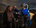 DEC 28: Joel Rosario weighs out after winning the Mathis Brothers Mile on at Santa Anita Park in Arcadia, California on December 28, 2019. Evers/Eclipse Sportswire/CSM