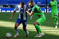 5th July 2020; RCDE Stadium, Barcelona, Catalonia, Spain; La Liga Football, Real Club Deportiu Espanyol de Barcelona versus Leganes; Jonathan Calleri grapples for the ball with Ruben Perez of Leganes