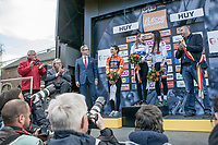 Women Elite podium:<br /> <br /> 1/ Anna van der Breggen (NED/Boels Dolmans)<br /> 2/ Elizabeth Deignan (GBR/Boels Dolmans)<br /> 3/ Kasia Niewiadoma (POL)<br /> <br /> La Flèche Wallonne Feminine 2017 (1.WWT)<br /> One Day Race: Huy › Mur de Huy (120km)