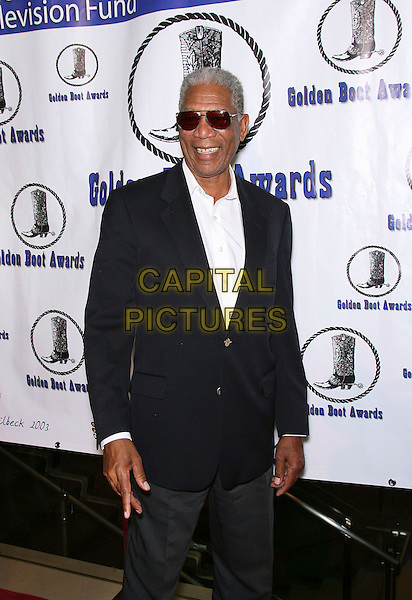 MORGAN FREEMAN.The Motion Picture and Television Fund's 24th Golden Boot Awards - Arrivals at the Beverly Hilton Hotel, Beverly Hills, California, USA, 12 August 2006..half length sunglasses blue jacket white shirt.Ref: ADM/ZL.www.capitalpictures.com.sales@capitalpictures.com.©Zach Lipp/AdMedia/Capital Pictures.