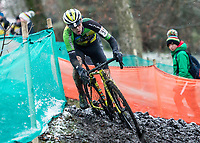 Picture by Allan McKenzie/SWpix.com - 10/12/17 - Cycling - HSBC UK National Cyclo-Cross Championships - Round 5, Peel Park - Bradford, England - Lewis Craven of Wheelbase Altura.