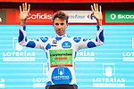 David Villella (ITA) Cannondale Drapac retains the climbers Polka Dot Jersey on the podium at the end of Stage 16 of the 2017 La Vuelta, an individual time trial running 40.2km from Circuito de Navarra to Logro&ntilde;o, Spain. 5th September 2017.<br /> Picture: Unipublic/&copy;photogomezsport | Cyclefile<br /> <br /> <br /> All photos usage must carry mandatory copyright credit (&copy; Cyclefile | Unipublic/&copy;photogomezsport)