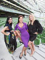 NO REPRO FEE. 8/9/2010. Bóthar launching Rugby Rocks Fashion. Ms Clare, Alice Carroll, Celia Holman Lee, Modeling agent and Ms Limerick, Valerie Somers are pictured at the the Aviva Stadium, Lansdowne Road, Dublin to launch Bóthar's Rugby Rocks Fashion.This is the first fashion event to take place at the newly developed stadium. Tickets are EUR60 and discounts are available with multiple purchases. Log onto www.bothar.ie for further information or call 1850 82 99 99.. Picture James Horan/Collins
