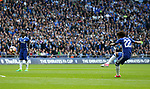 Chelsea's Willian scoring his sides opening goal during the FA Cup Semi Final match at Wembley Stadium, London. Picture date: April 22nd, 2017. Pic credit should read: David Klein/Sportimage