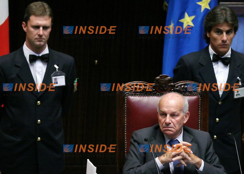 Roma 28-09-2006 Camera:Dichiarazioni del Presidente del Consiglio Romano Prodi sul caso Telecom<br /> Nella foto Fausto Bertinotti<br /> Photo Serena Cremaschi Inside