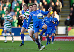 St Johnstone v Celtic.....12.04.11.Graham Gartland and Daryl Murphy.Picture by Graeme Hart..Copyright Perthshire Picture Agency.Tel: 01738 623350  Mobile: 07990 594431