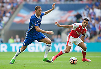 Nemanja Matic of Chelsea and Alexis Sanchez of Arsenal during the FA Cup Final match between Arsenal v Chelsea, Wembley stadium, London on 27th May 2017