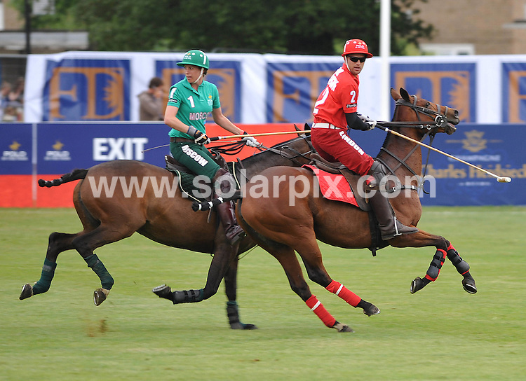 """**ALL ROUND PICTURES FROM SOLARPIX.COM**.**WORLDWIDE SYNDICATION RIGHTS**.Day 1 of The inaugural tournament of """"Polo in the park"""" The World Polo Series London V Moscow at The Hurlingham Club  in Fulham, Central London...This pic:London V Moscow..JOB REF:9170       SSD     DATE:05.06.09.**MUST CREDIT SOLARPIX.COM OR DOUBLE FEE WILL BE CHARGED**.**ONLINE USAGE FEE GBP 50.00 PER PICTURE - NOTIFICATION OF USAGE TO PHOTO @ SOLARPIX.COM**.**CALL SOLARPIX : +34 952 811 768 or LOW RATE FROM UK 0844 617 7637**"""