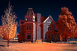 Domicile #1, Panguitch, Utah (Infrared) ©2016 James D Peterson.  The first in a series of infrared studies of historic homes.