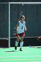 Stanford, CA - SEPTEMBER 27:  Midfielder Midori Uehara #3 of the Stanford Cardinal during Stanford's 7-0 win against the Pacific Tigers on September 27, 2008 at the Varsity Field Hockey Turf in Stanford, California.