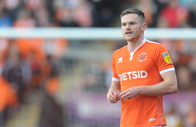 Blackpool's Oliver Turton<br /> <br /> Photographer Kevin Barnes/CameraSport<br /> <br /> The EFL Sky Bet League One - Blackpool v Southend United - Saturday 9th March 2019 - Bloomfield Road - Blackpool<br /> <br /> World Copyright © 2019 CameraSport. All rights reserved. 43 Linden Ave. Countesthorpe. Leicester. England. LE8 5PG - Tel: +44 (0) 116 277 4147 - admin@camerasport.com - www.camerasport.com