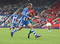 Men's Olympic Football match Honduras v Morocco on 26.7.12...During the Honduras v Morocco Men's Olympic Football match at Hampden Park, Glasgow.............
