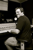 Axel Wolph mixes his album 'The Weekend Starts On Wednesday' at the studio of Mike Harrison in Los Angeles, California.November 2008