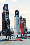 Emirates Team New Zealand won the Louis Vuitton America's Cup World Series New York. A crowd of more than 100,000 watched the event featuring competition with an international field from the World Financial Center and other lower Manhattan locations along the Hudson River.