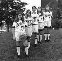 1996: Angela Webb, Amanda Renteria, Summer Lee, Lynn Anderson, Katie Beattie.