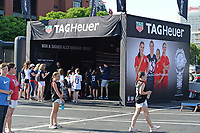St. Louis, MO - Thursday May 16, 2019: The women's national teams of the United States (USA) and New Zealand (NZL) play in an international friendly match at Busch Stadium. TAG Heuer.