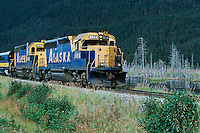Train along Denali Highway, Alaska, USA