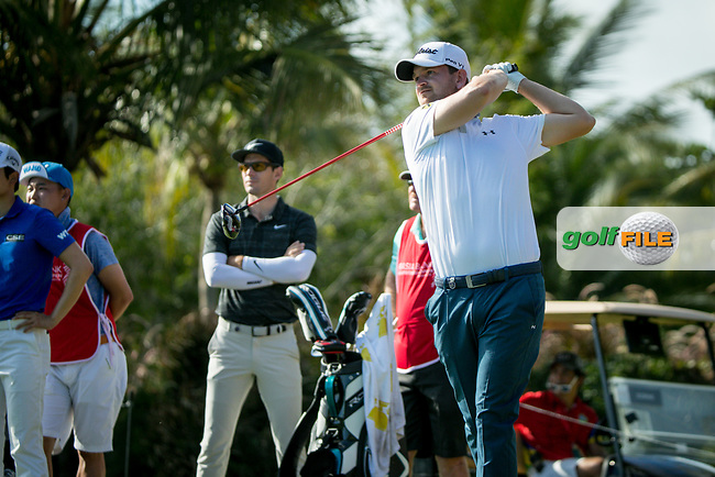 Bernd Weisberger (AUT) during the 1st round of the AfrAsia Bank Mauritius Open, Four Seasons Golf Club Mauritius at Anahita, Beau Champ, Mauritius. 29/11/2018<br /> Picture: Golffile | Mark Sampson<br /> <br /> <br /> All photo usage must carry mandatory copyright credit (&copy; Golffile | Mark Sampson)