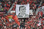 14.04.2018, BayArena, Leverkusen , GER, 1.FBL., Bayer 04 Leverkusen vs. Eintracht Frankfurt<br /> im Bild / picture shows: <br /> Choreografie der Leverkusener Fans <br /> <br /> <br /> Foto &copy; nordphoto / Meuter