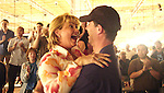 Mary Jones Meyer and her husband after winning the event.