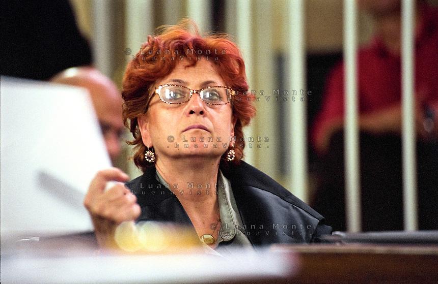Ilda Bocassini, Pubblico ministero del primo processo SME. Milano, 6 giugno 2003...Ilda Bocassini, Public Prosecutor of the first SME trial. Milan, June 6, 2003
