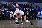 Amy Pilat (23) of the High Point Panthers digs the ball against the Liberty Flames at the Millis Athletic Center on September 23, 2016 in High Point, North Carolina.  The Panthers defeated the Flames 3-1.   (Brian Westerholt/Sports On Film)
