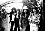 Queen 1975 Brian May Roger Taylor John Deacon and Freddie Mercury at Ridge Farm in Surrey August 1st 1975<br /> &copy; Chris Walter