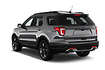 Car pictures of rear three quarter view of a 2019 Ford Explorer XLT 5 Door SUV angular rear