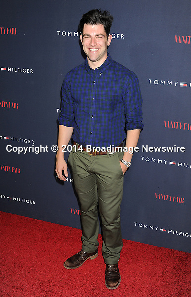 Pictured: Max Greenfield<br /> Mandatory Credit &copy; Gilbert Flores/Broadimage<br /> Tommy Hilfiger and Vanity Fair Celebrate the the To Tommy from Zooey Collaboration wth Zooey Deschanel<br /> <br /> 4/9/14, West Hollywood, California, United States of America<br /> <br /> Broadimage Newswire<br /> Los Angeles 1+  (310) 301-1027<br /> New York      1+  (646) 827-9134<br /> sales@broadimage.com<br /> http://www.broadimage.com
