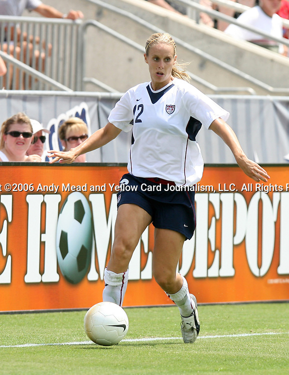 30 July 2006: Leslie Osborne (USA). The United States Women's National Team defeated Canada 2-0 at SAS Stadium in Cary, North Carolina in an international friendly soccer match.