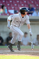 May 27, 2010: Cutter Dykstra (1) of the Wisconsin Timber Rattlers at Elfstrom Stadium in Geneva, IL. The Timber Rattlers are the Midwest League Class A affiliate of the Milwaukee Brewers. Photo by: Chris Proctor/Four Seam Images