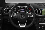 Car pictures of steering wheel view of a 2017 Mercedes Benz SL-Class AMG-63 2 Door Convertible Steering Wheel