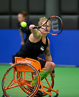 Rotterdam,Netherlands, December 15, 2015,  Topsport Centrum, Lotto NK Tennis, Michaela Spaanstra (NED)<br /> Photo: Tennisimages/Henk Koster