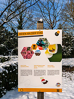 Lehrpfad auf dem Rhahm-Plateau, Luxemburg-City, Luxemburg, Europa<br /> wducational trail on Rham-Plateau, Luxembourg City, Europe